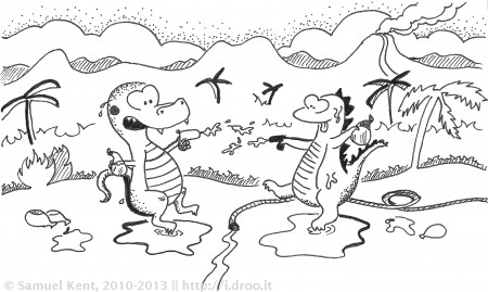 Jurassic Water Fight