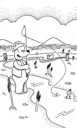 A Bear's Fishin'